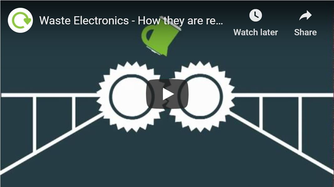 Thumbnail of youtube video link showing how electronics are recycled